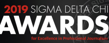 Logo of the Sigma Delta Chi award for excellence in journalism