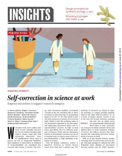 The article Self-correction in science at work