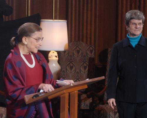 Justice Ruth Bader Ginsburg and Kathleen Hall Jamieson