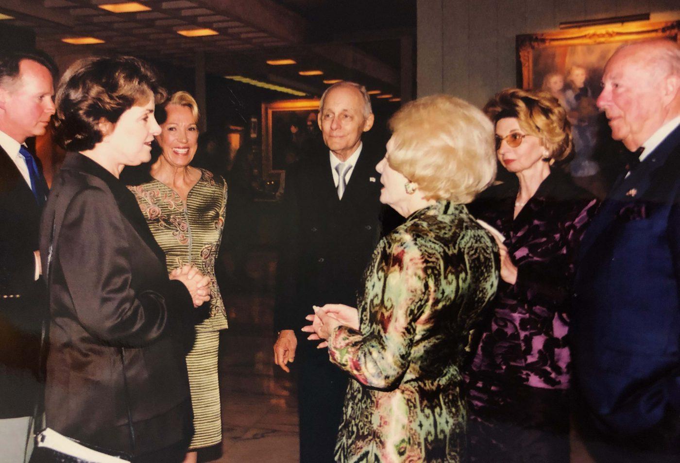 George Shultz and Leonore Annenberg