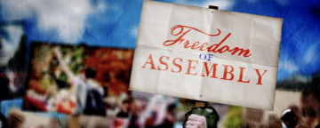 Screen capture from Annenberg Classroom's 'Freedom of Assembly'