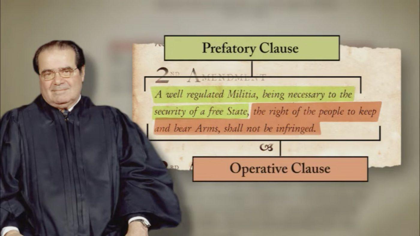 "Justice Antonin Scalia in ""Second Amendment: D.C. v. Heller and McDonald v. Chicago"""