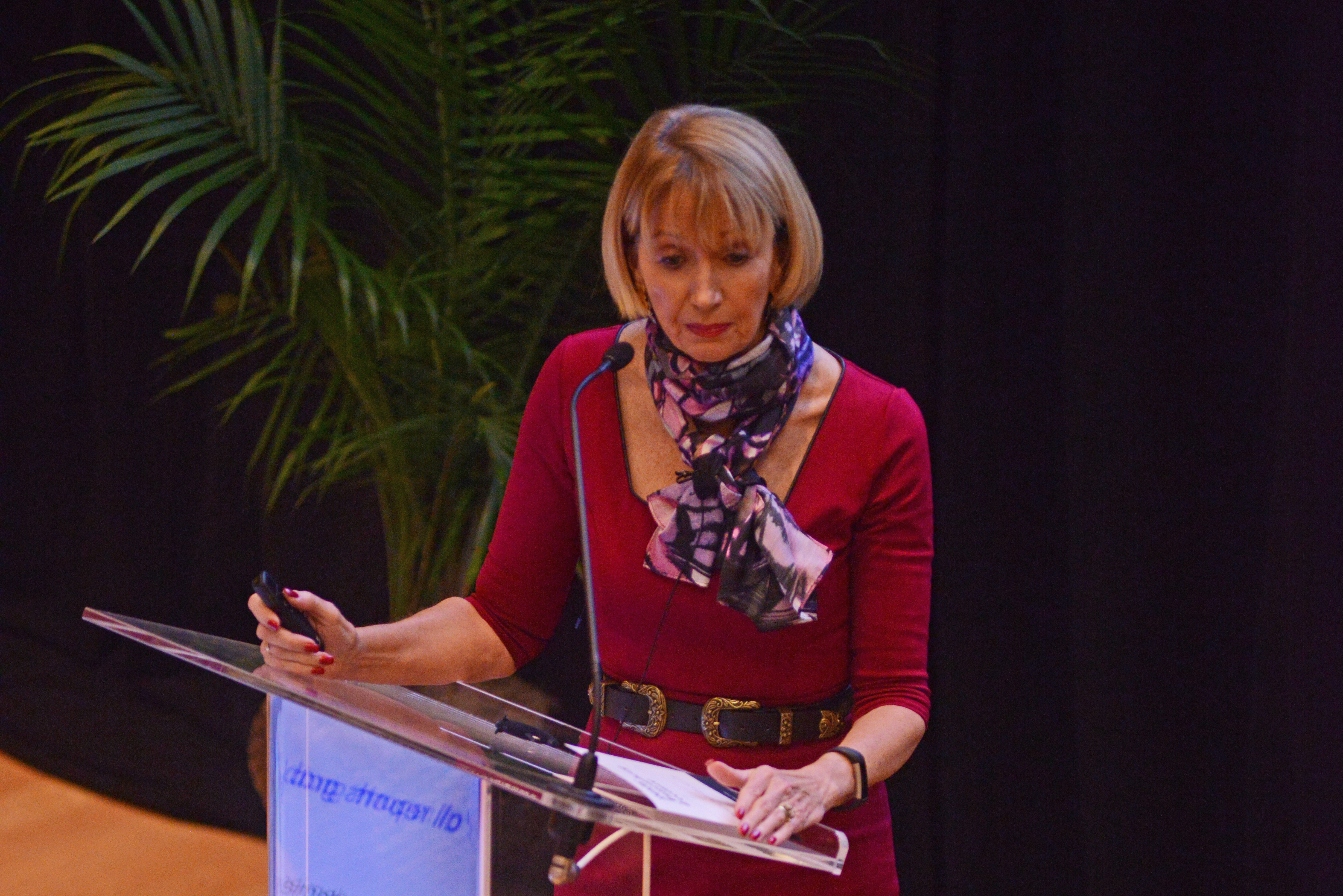 NAS President Marcia McNutt delivers the Annenberg Lecture.