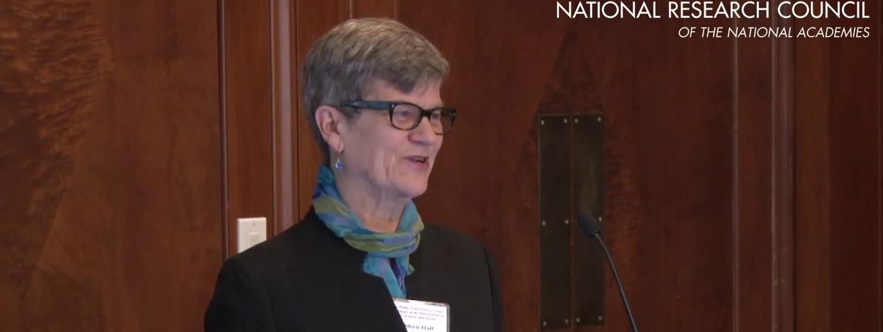 Kathleen Hall Jamieson speaking at the NAS Interface workshop May 6, 2015