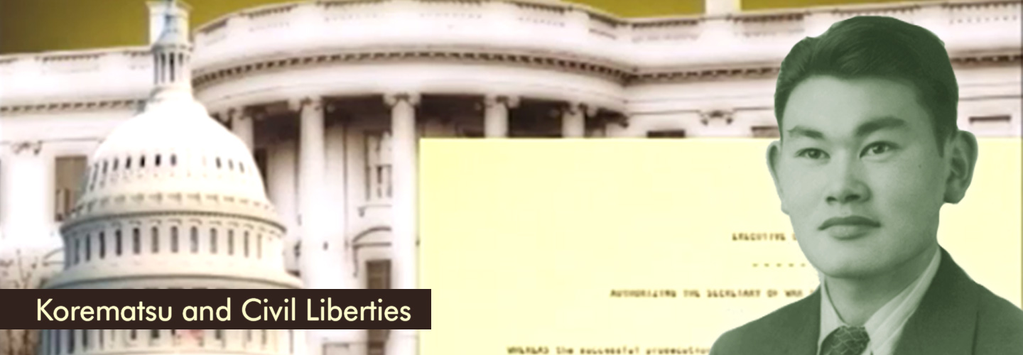 "Screenshot from ""Korematsu and Civil Liberties"" video."