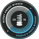 Webby and People's Voice award winner.