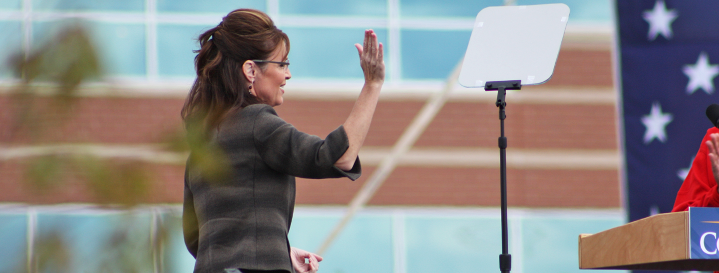 2008 Vice Presidential candidate Sarah Palin at an Ohio rally in October 2008. Credit: Matt Fields.