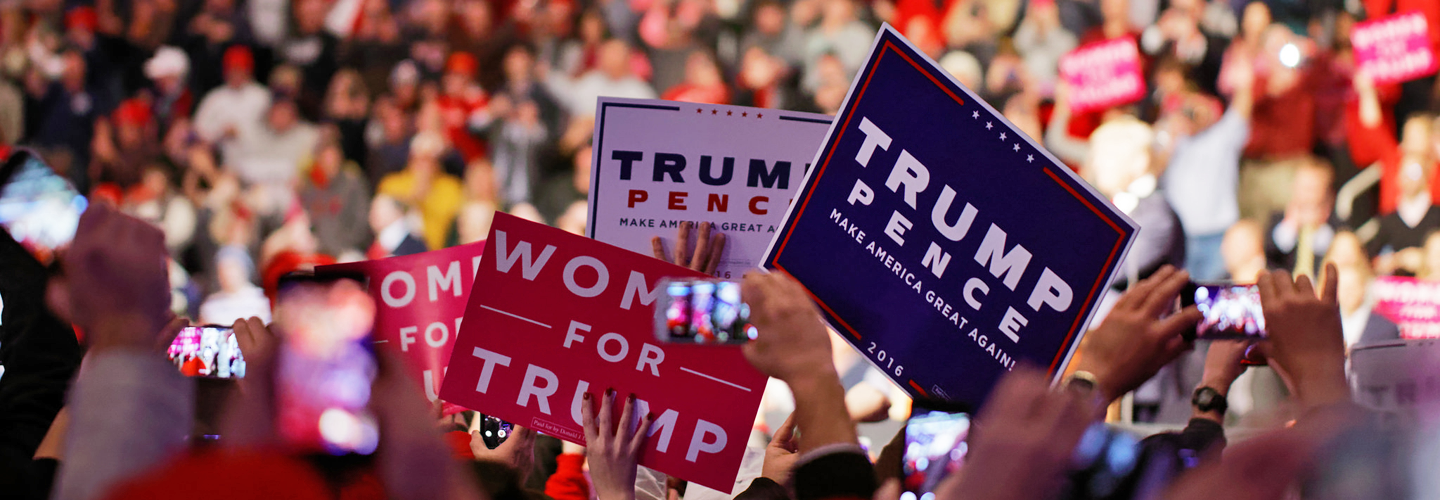 "Supporters at an event for president-elect Donald Trump's ""USA Thank You Tour"" in Hershey, PA on December 12, 2016. Credit: Michael Vadon."
