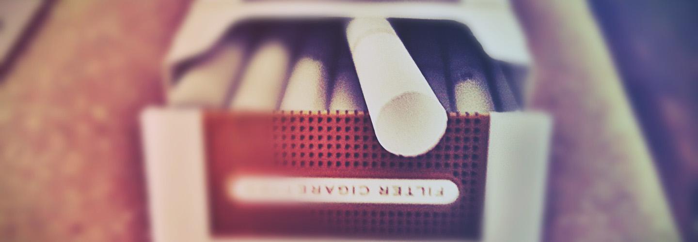 Cigarette pack.