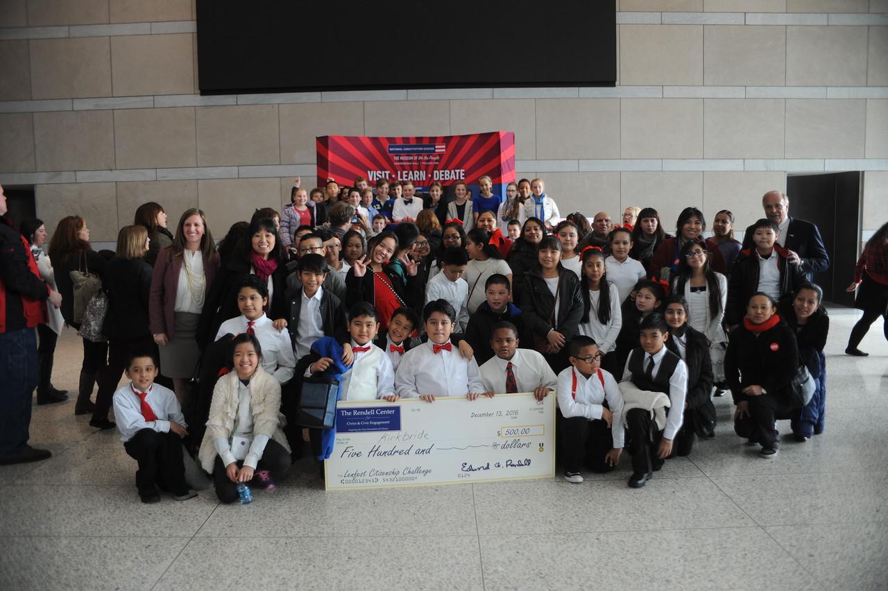 2nd runner-up Kirkbride Elementary.